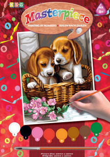 НАБОР ДЛЯ ТВОРЧЕСТВА SEQUIN ART PAINTING BY NUMBERS JUNIOR BASKET OF PUPPIES
